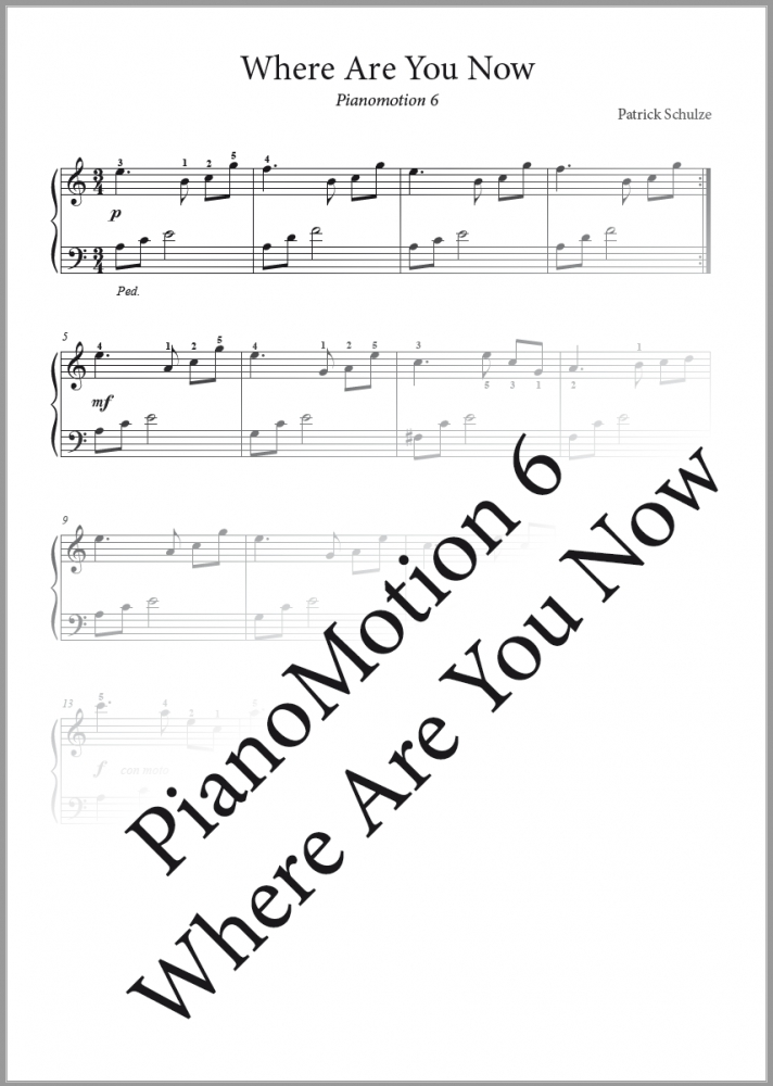 Bild 1 von PianoMotion 6  - Where Are You Now