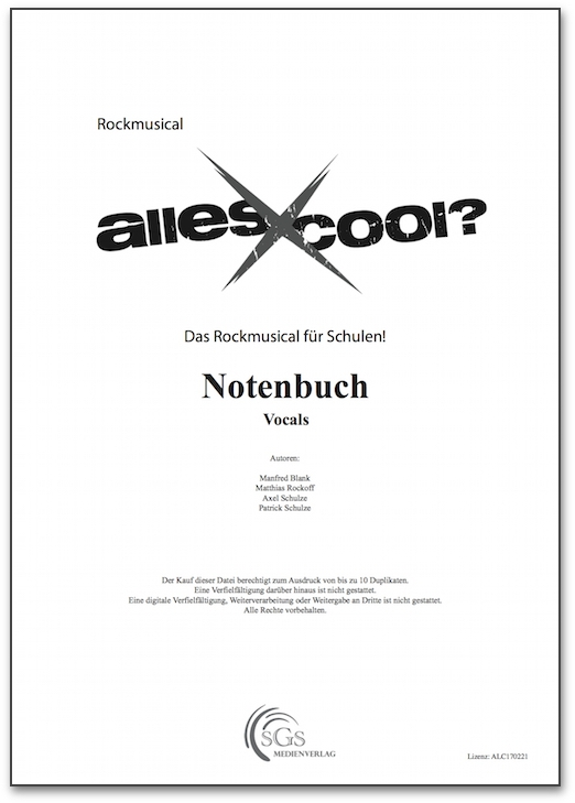 Bild 1 von Alles Cool - Notenbuch Vocals (PDF-Download)