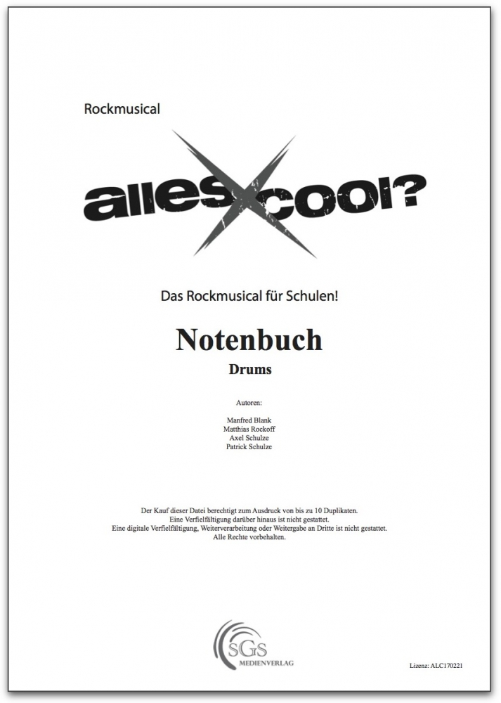 Bild 1 von Alles Cool - Notenbuch Drums (PDF-Download)